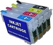 Wiederbefüllbare Tintenpatronen wie Epson T0711-T0714 mit Auto Reset Chips