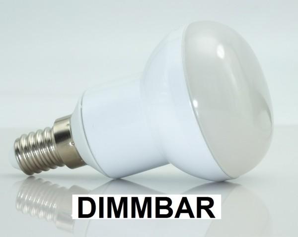 5 Watt LED-Lampe E14, Spotform R50, Lichtfarbe warmweiß, dimmbar - 120° Ausstrahlung