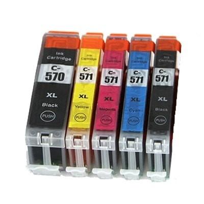 Druckerpatronen Set wie Canon PGI-570 XL & CLI-571 XL black, cyan, magenta, yellow - 5 Patronen