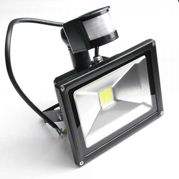 30 Watt LED Außenstrahler - Flutlicht mit einstellbarem Bewegungssensor