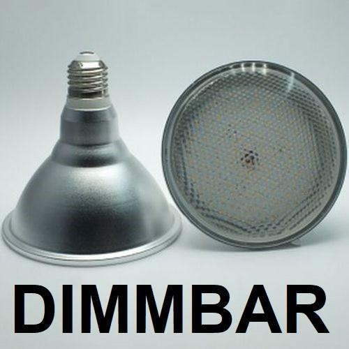 18 Watt PAR 38 LED Lampe E27 - Lichtfarbe warmweiß 2700 K, dimmbar - 120° Ausstrahlung