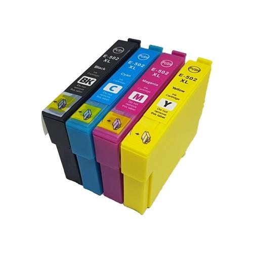 Druckerpatronen Set wie Epson 502 XL Black, Cyan, Magenta, Yellow - doppelte XL Füllmengen