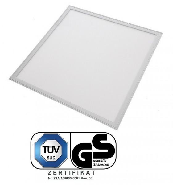TÜV SÜD, GS geprüft - 40 Watt LED Panel, 60 x 60 cm, Lichtfarbe Tageslichtweiß 6000K, Rahmen Weiss