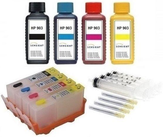 Wiederbefüllbare QUICKFILL-FILL-IN Patronen HP 903 XL + 400 ml SENSIENT Tinten