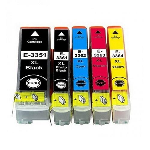 Druckerpatronen Set wie Epson T3351 & T3361, T3362, T3363, T3364, T33 XL, T3357