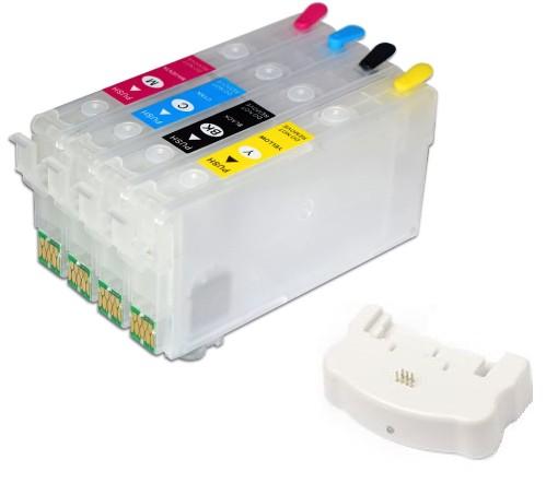 Nachfüllset 400 ml Tinte + Chipresetter für Epson Tintenpatronen 405, 405 XL