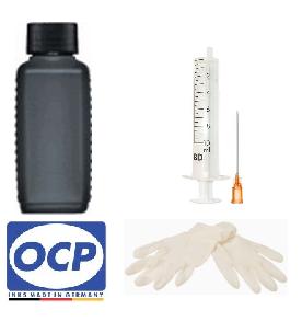 Nachfüllset für HP 953, 21, 27, 56 - 100 ml OCP Tinte BKP 249 Black + Zubehör