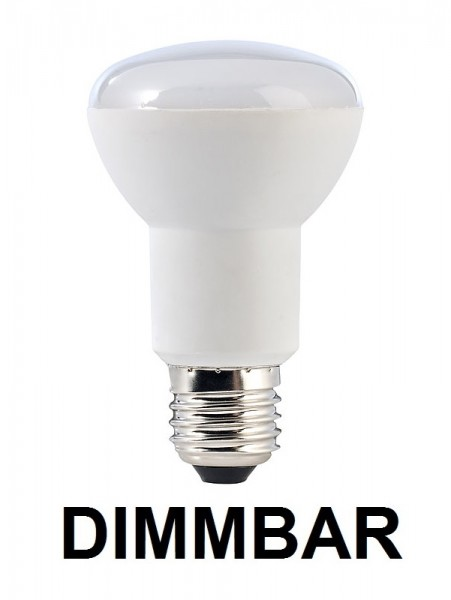 7 Watt LED-Lampe in Spotform, E27 - R63, Lichtfarbe warmweiß 2700 K, dimmbar - 120° Ausstrahlung