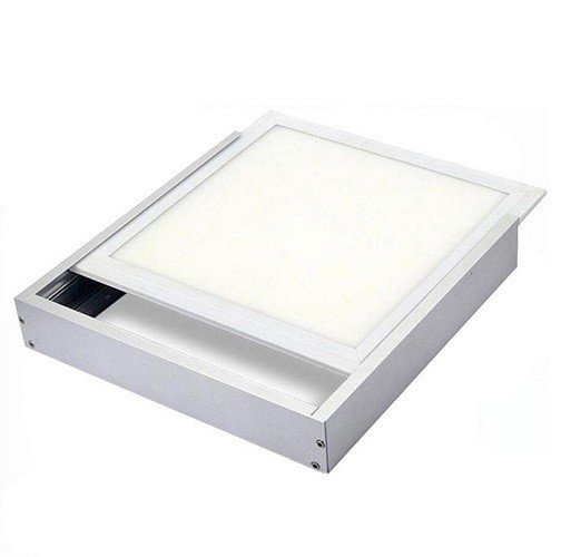 Aufputz Einbaurahmen Aluminium für LED Panel 62 x 62 cm