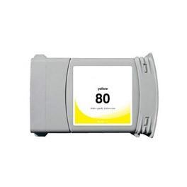 Refill Druckerpatrone HP 80 XL yellow C4848A, C4873A