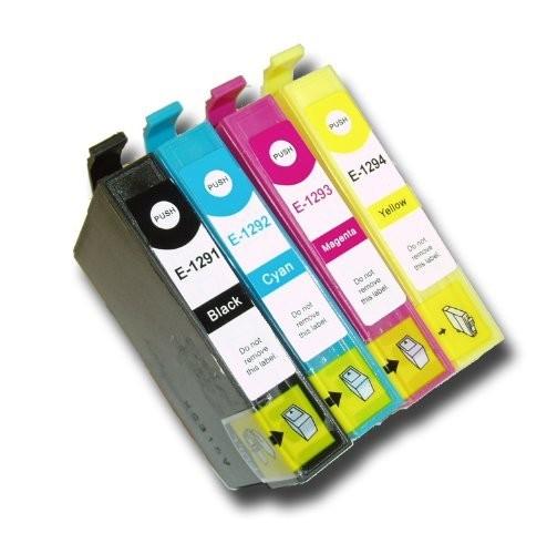 Druckerpatronen Set wie Epson T1295 XL - T1291, T1292, T1293, T1294