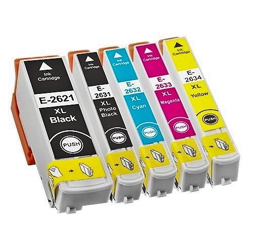 Druckerpatronen Set wie Epson T2621 & T2631, T2632, T2633, T2634, T26 XL , T2636