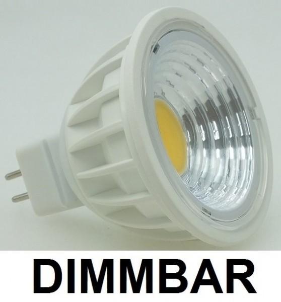 3 Watt COB LED-Spot MR16 - GU5.3 Lichtfarbe Warmweiß 2700 K, dimmbar - 90° Ausstrahlung