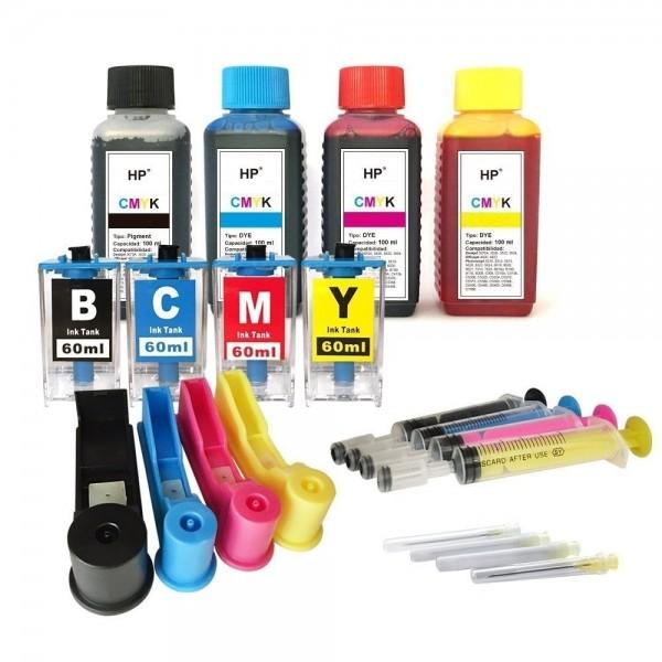 Easy Refill Befülladapter + Nachfüllset für HP 655 (XL) black, cyan, magenta, yellow Patronen
