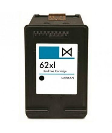 Refill Druckerpatrone HP 62 XL schwarz, black - C2P05AE, C2P04AE