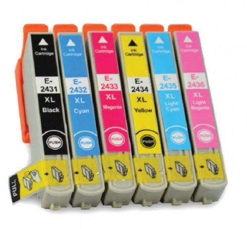 Druckerpatronen Set wie Epson T2431, T2432, T2433, T2434, T2435, T2436, T24 XL - T2428, T2438