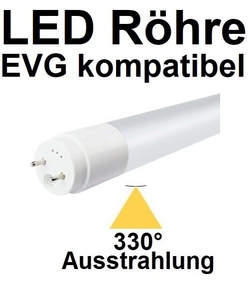 Mit TÜV, für EVG - 60 cm LED-Röhre T8 - G13, 10 Watt, 330° Ausstrahlung, Tageslichtweiß 6000K