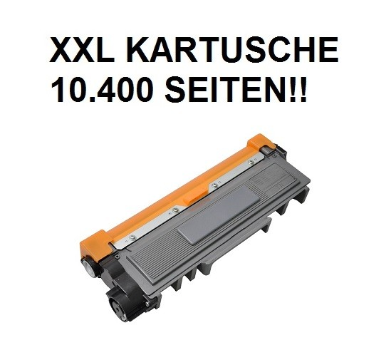 XXL Tonerkartusche wie Brother TN-2320 black, schwarz - 4-fache Kapazität für 10.400 Seiten