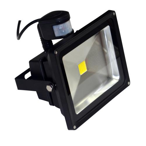 50 Watt LED Außenstrahler - Flutlicht mit einstellbarem Bewegungssensor