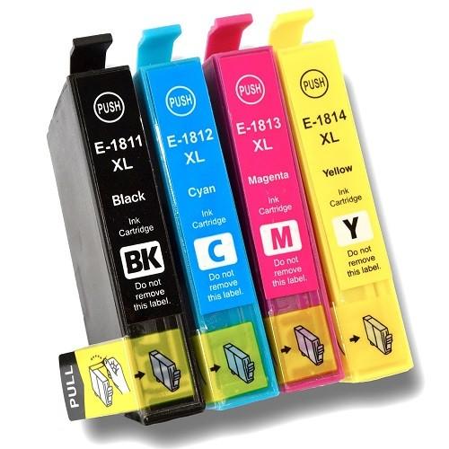 Druckerpatronen Set wie Epson T1811, T1812, T1813, T1814, T18 XL, T1816