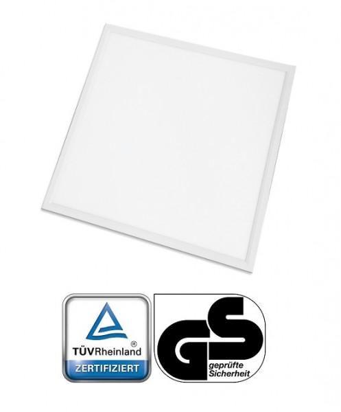 TÜV + GS geprüft - 40 Watt LED Panel, 60 x 60 cm, Lichtfarbe Neutralweiß 4000K, Rahmen Weiss