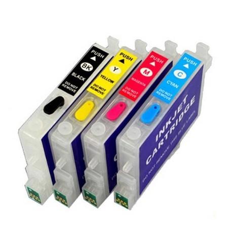 Wiederbefüllbare QUICKFILL-FILL-IN Patronen wie Epson T0611-T0614 mit Auto Reset Chips