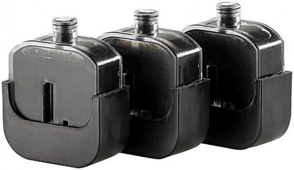3 Nachfülltinten-Tanks für Easy Refill Befülladapter Canon PG-510 black und PG-512 black
