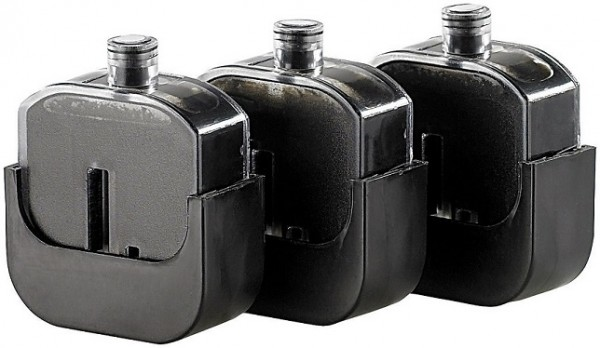 3 Nachfülltinten-Tanks für Easy Refill Befülladapter HP 56 black